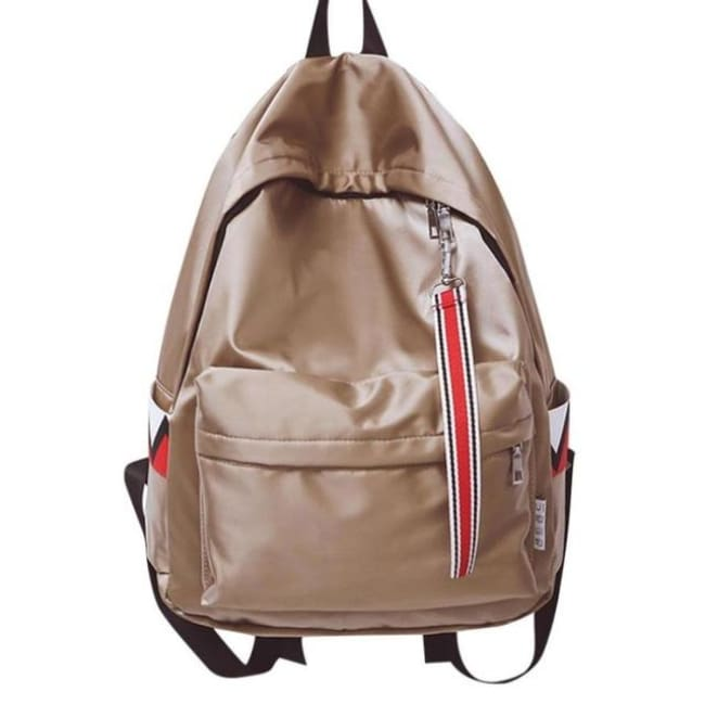 Anti Theft Waterproof Backpack - Khaki / China - Luggage & Bags