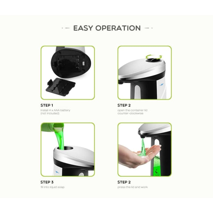 Automatic Liquid Soap Dispenser Smart Sensor Touchless - Home & Garden