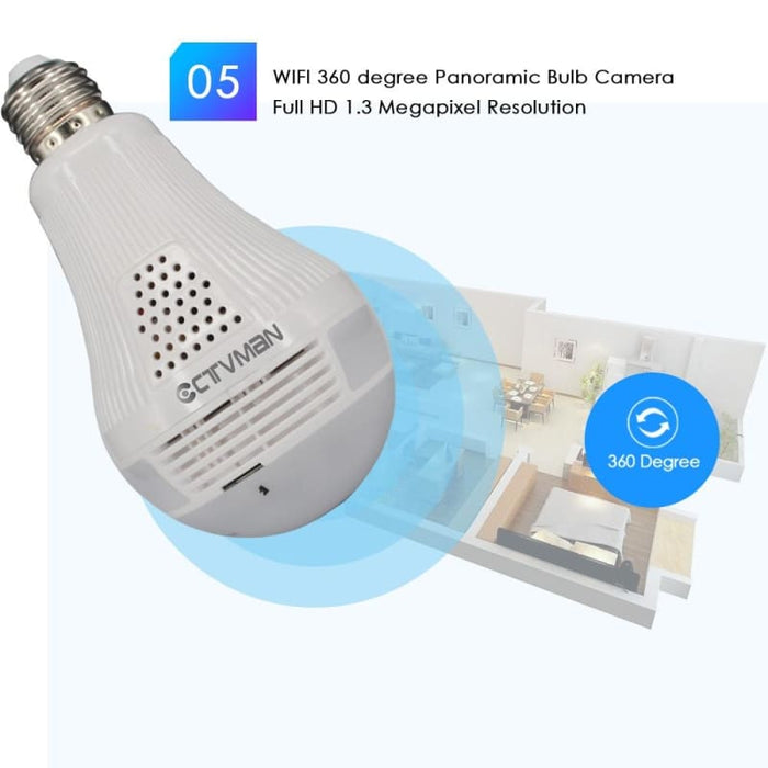Bulb Lamp Home Security Cctv - Security & Protections