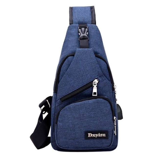 Casual Luxury Anti Theft Backpack Usb - Blue / China - Luggage & Bags