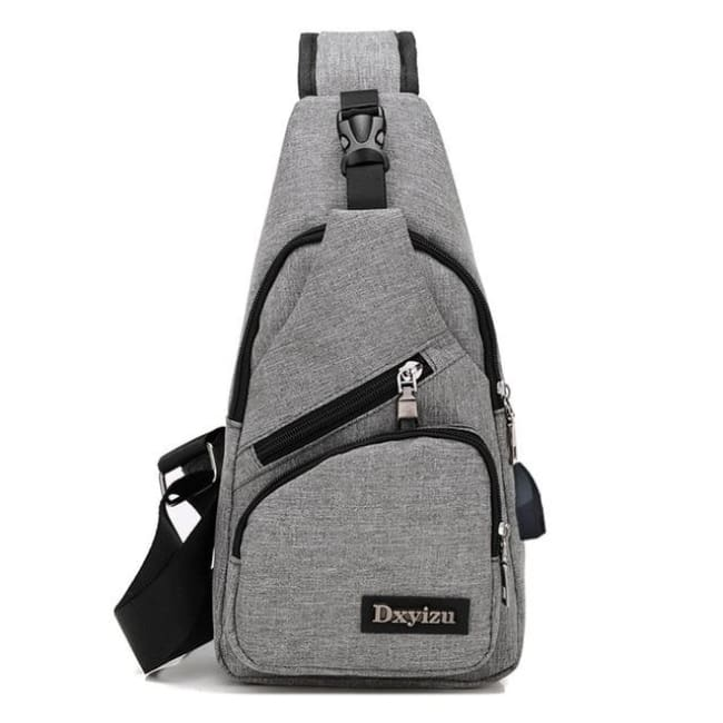 Casual Luxury Anti Theft Backpack Usb - Gray / China - Luggage & Bags
