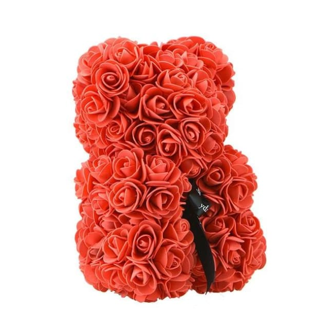 Handmade Valentines Day Rose Bear - 25Cm Red - Home & Garden