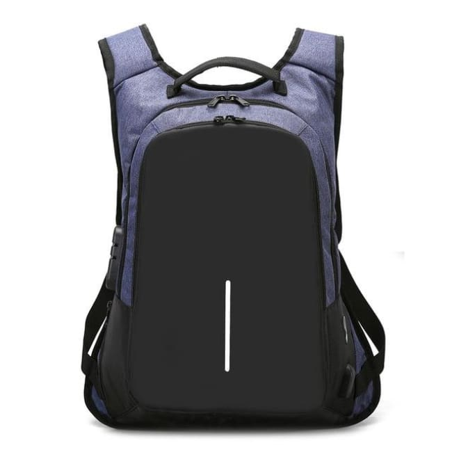 Luxury Anti-Theft Laptop Backpack Waterproof - Blue / United States - Luggage & Bags