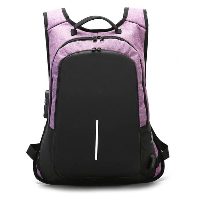 Luxury Anti-Theft Laptop Backpack Waterproof - Purple / United States - Luggage & Bags