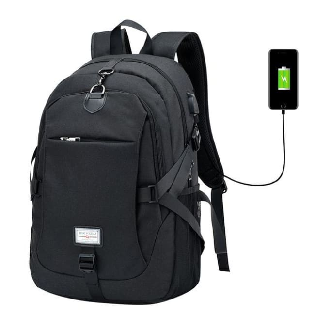 Luxury Waterproof Anti-Theft Backpack With Usb Charging - Black / China - Luggage & Bags