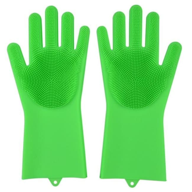 Magic Dish Washing Gloves - Fluorescent Green / A Pair - Home & Garden