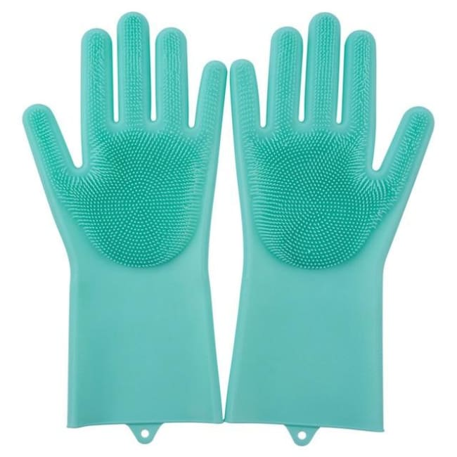 Magic Dish Washing Gloves - Green / A Pair - Home & Garden
