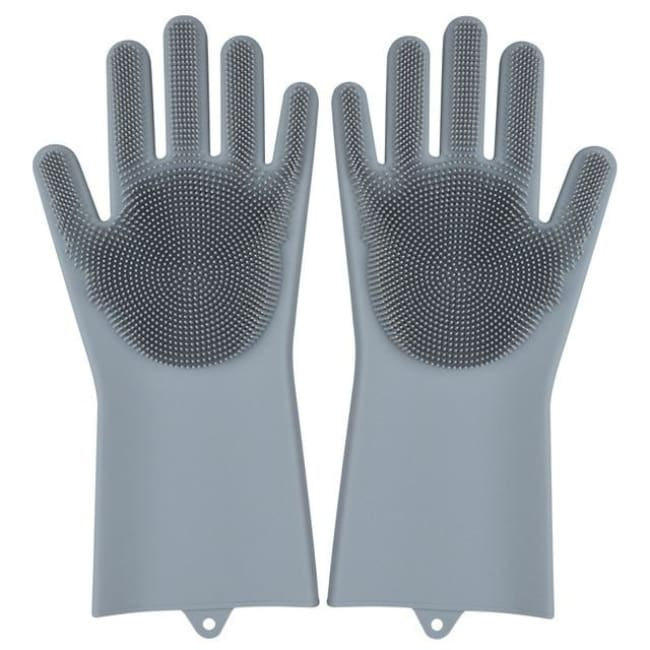 Magic Dish Washing Gloves - Grey / A Pair - Home & Garden