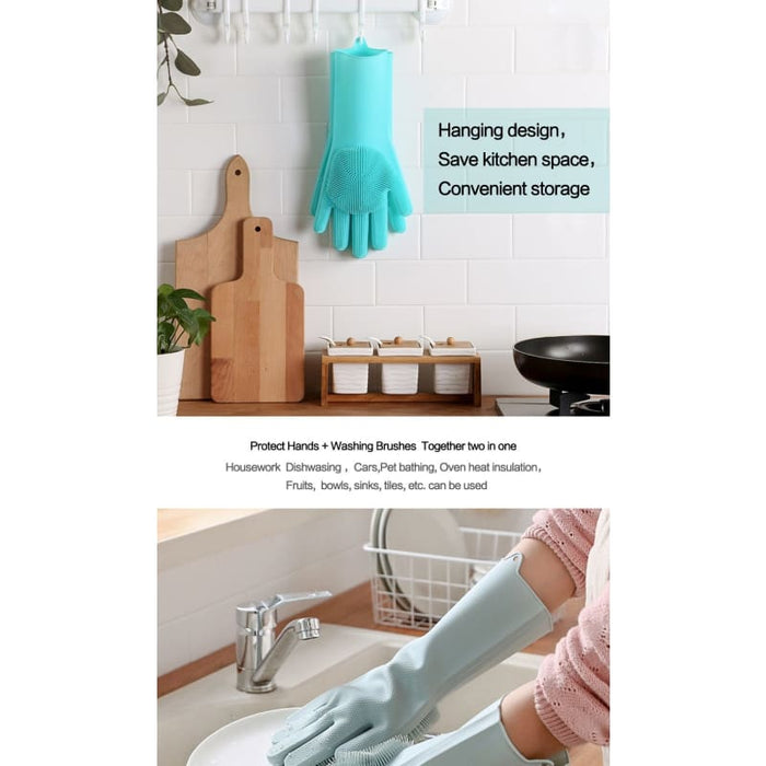 Magic Dish Washing Gloves - Home & Garden