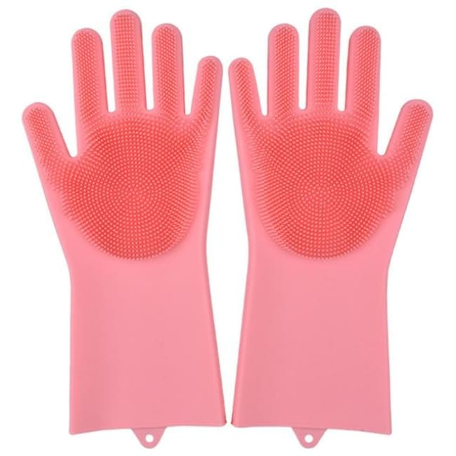 Magic Dish Washing Gloves - Pink / A Pair - Home & Garden