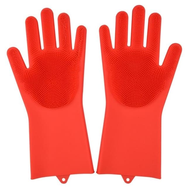 Magic Dish Washing Gloves - Red / A Pair - Home & Garden