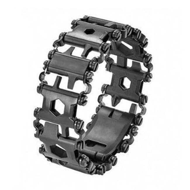 Multifunction Tread Bracelet Stainless Steel - Black