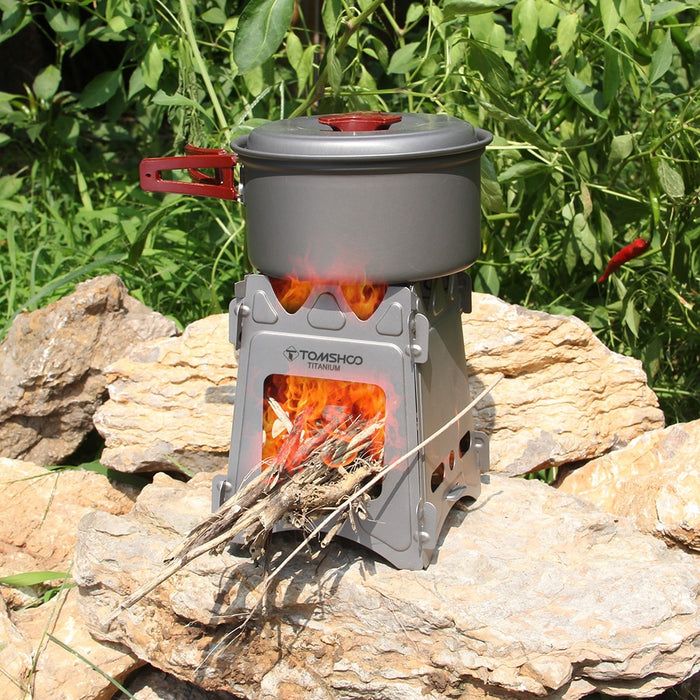 Premium Ultralight Titanium Wood Burner Camping Stove