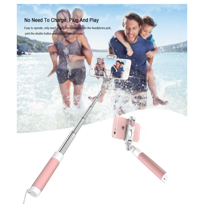 Selfie Stick Case 3.5Mm Aux For Iphone Samsung Huawei Xiaomi - Consumer Electronics