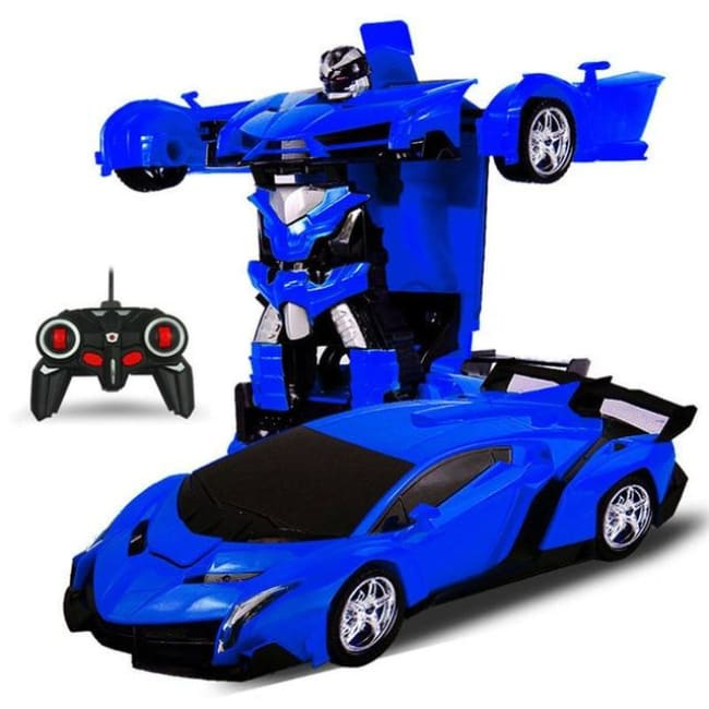 Transformation Robots Sports Vehicle - Blue - Toys & Hobbies