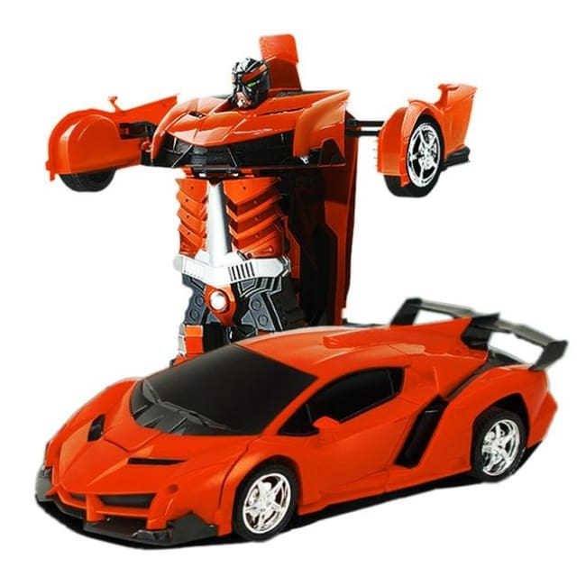 Transformation Robots Sports Vehicle - Orange - Toys & Hobbies