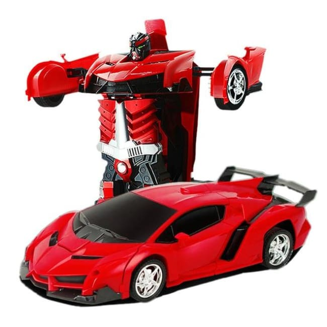 Transformation Robots Sports Vehicle - Red - Toys & Hobbies