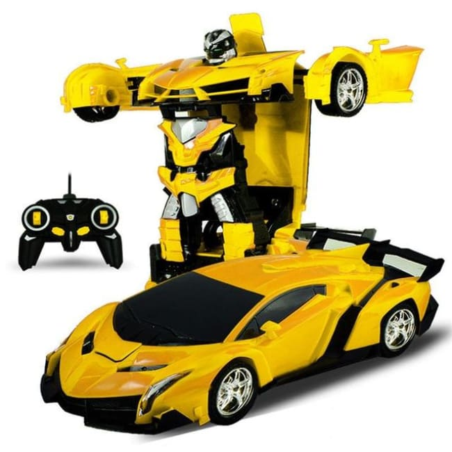Transformation Robots Sports Vehicle - Yellow - Toys & Hobbies