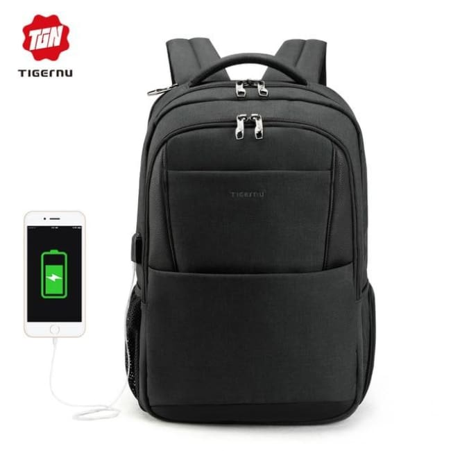 Waterproof Anti Theft Backpack For 15.6 Laptop Backpack - Black Grey 15.6Inch / China - Luggage & Bags