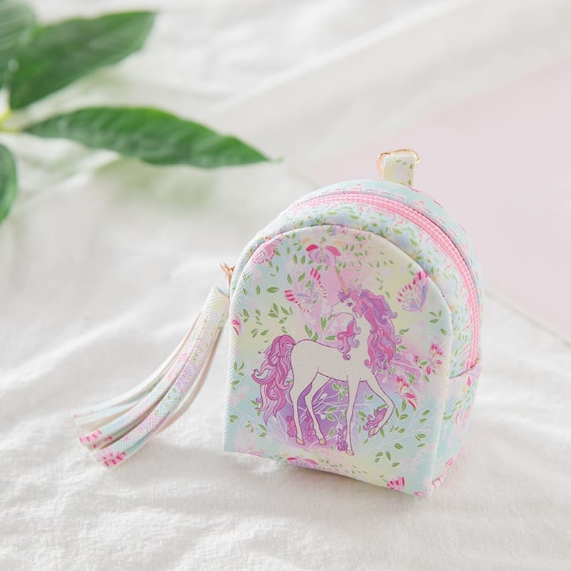 3Pcs Mini Cartoon Unicorn Bag/change Purse/keychain