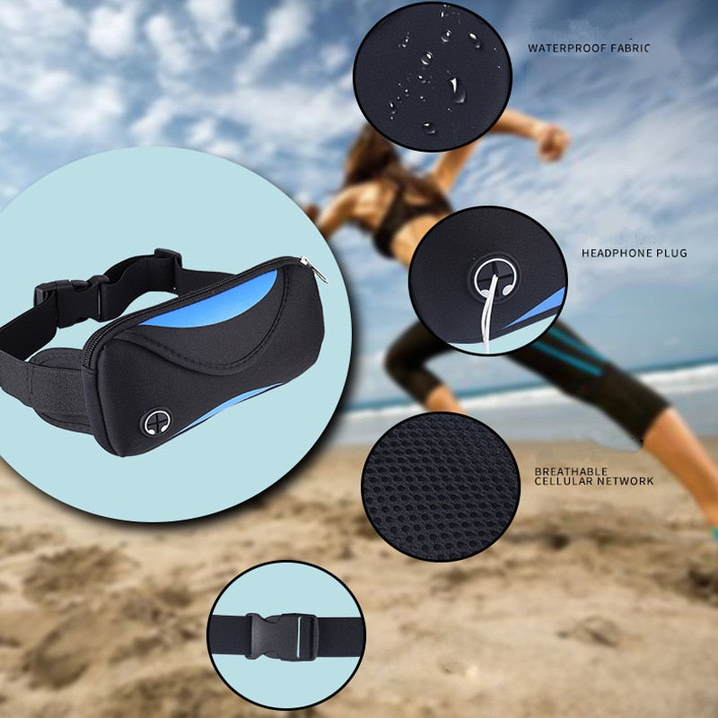 Universal Sports Armband bag Running Gym Waist Belt Waterproof Armbands Phone Pouch Outdoor Case for iphone Huawei Under 7 inch
