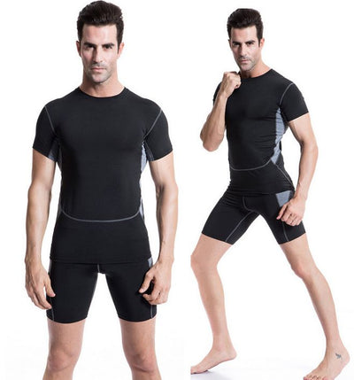 Men's Compression Tights T Shirt Bicycle Fitness tees Short Sleeve  Moisture Wicking Quick-drying T-shirt