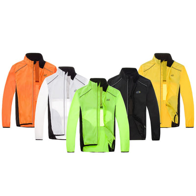 Rainproof Windcoat Cycling Jacket Reflective Breathable Ultra-light Bicycle Jersey Windproof Women Men Cycling Fleece Clothing