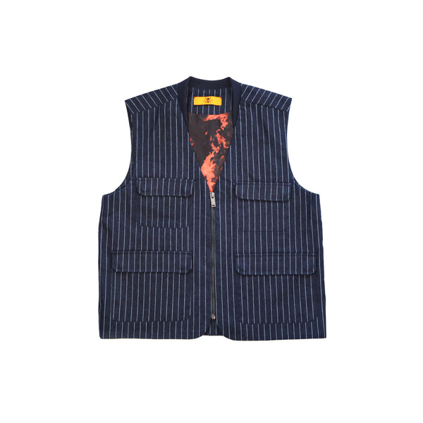 What We Wear x Daily Paper Pin Stripe Vest
