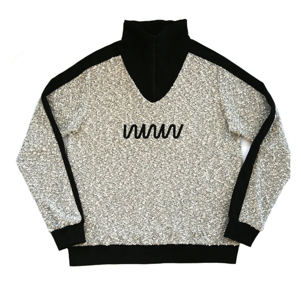 WWW Bouclé Ivory Tracksuit Pullover