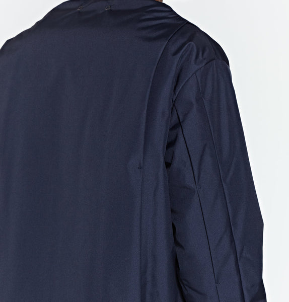 Navy Pleated Bomber