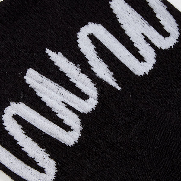 Essential Black Logo Sock