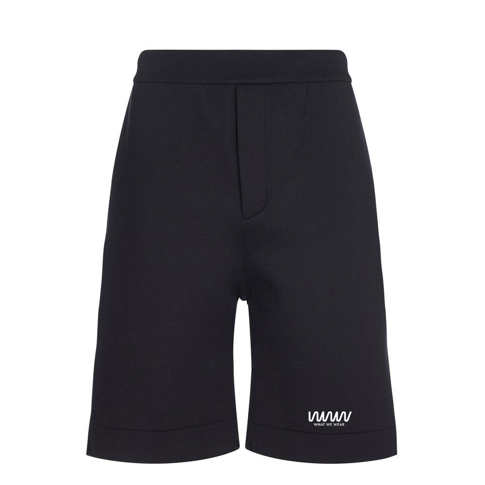 Black Logo Popper Shorts