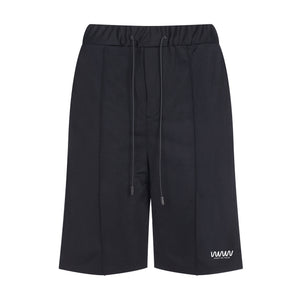 Black Jersey Pintuck Shorts