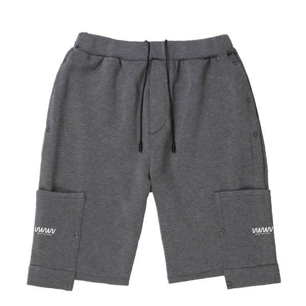 Grey Logo Popper Shorts