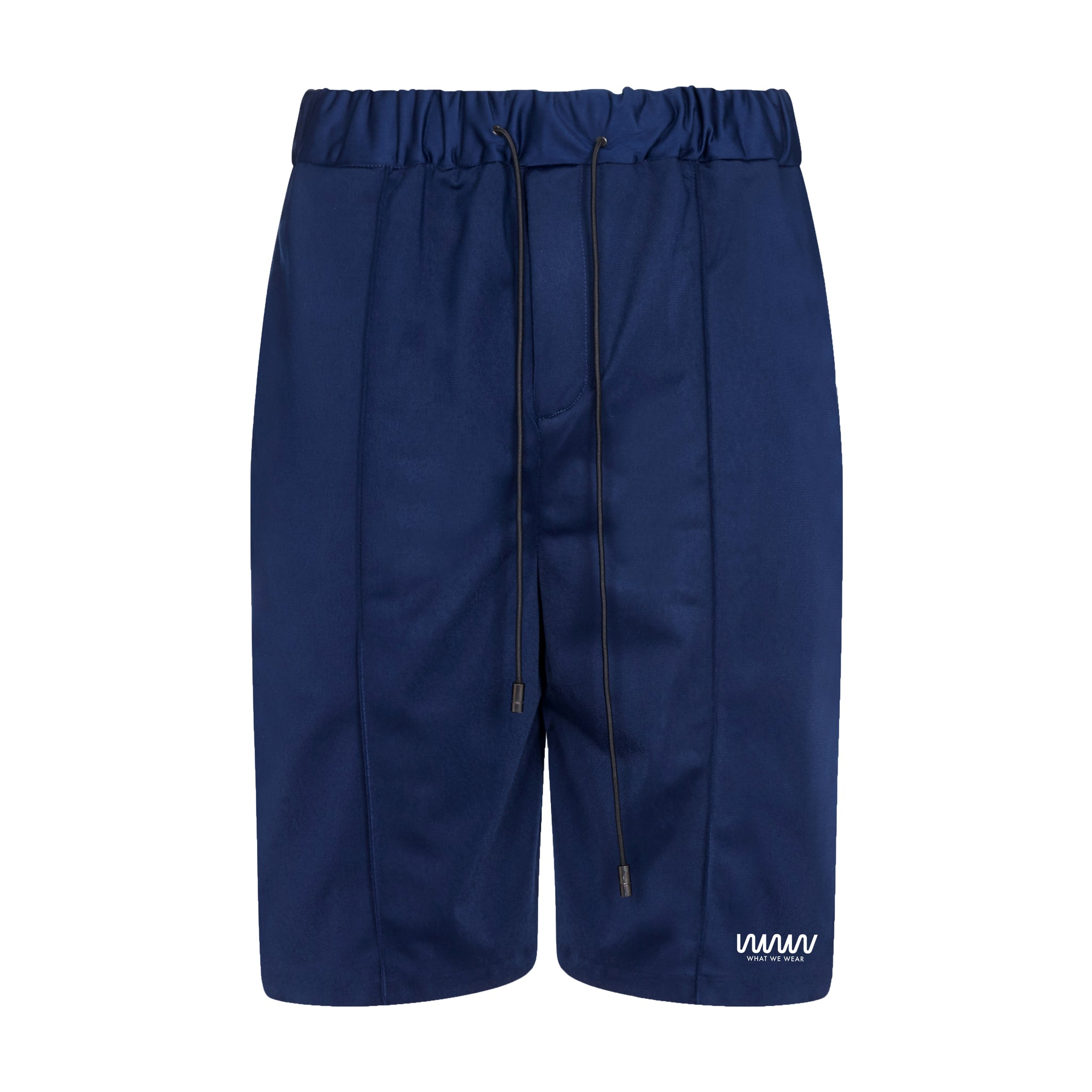 Navy Jersey Pintuck Shorts
