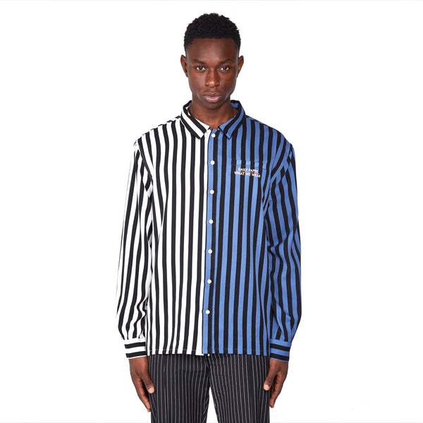 What We Wear x Daily Paper Striped Disi Logo Shirt