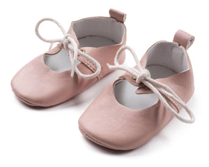 Mouche Kids Mauve Mary Jane Baby Shoes