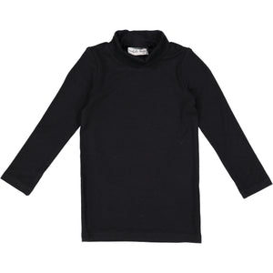 Lil Legs Black Bamboo Turtleneck