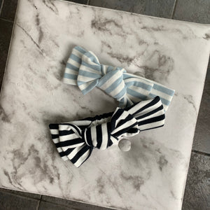 Baby Girl Striped Headband With Bow