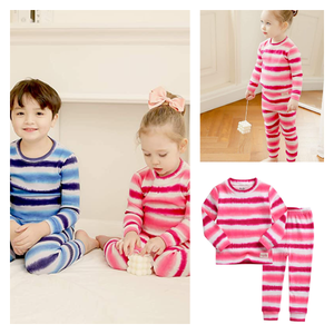 Vaenait 100% Cotton Striped Tie Dye Pajamas