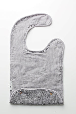 BCP X Lil Legs Grey Toddler Bib
