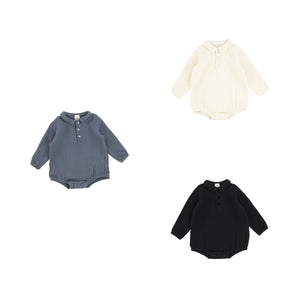 Peek A Boo 2 Pc Blue Wash Ribbed Set