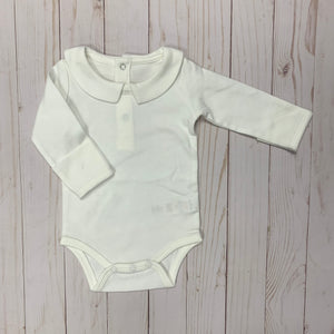 Baby Onesie With Peter Pan Collar ~ 3 Colors