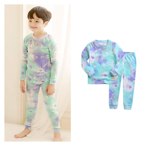 Vaenait 100% Cotton Blue Mint Tie Dye Pajamas