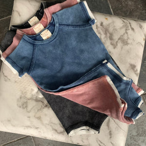 New* Lil Legs Denim Wash Romper