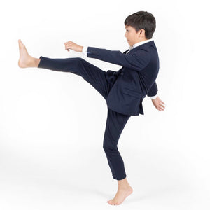 """NEW"" TO Boys Stretch Skinny Pants Navy"