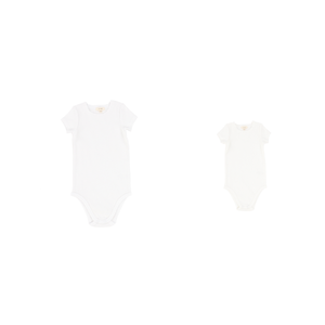 New* Lil Legs Short Sleeve Rib Onesie
