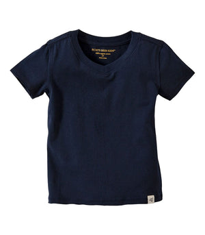 Burt's Bees Solid Short Sleeve Reverse Seam V-Neck Tee Navy
