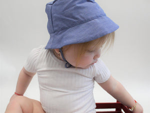 Mouche Kids Chambray Sun Hat
