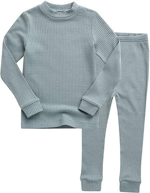 Vaenait Baby Super Soft Comfy RIBBED Modal Tencel Solid Pajamas